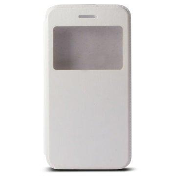iPhone 6 / 6S Ksix Ikkunallinen Seisontatuki Foliokotelo Valkoinen