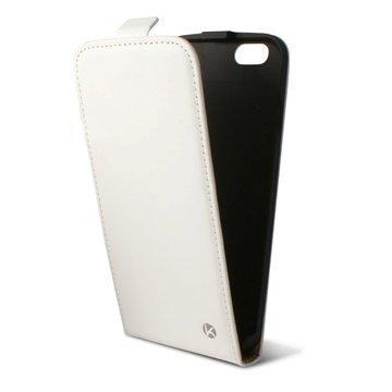 iPhone 6 / 6S Ksix Pystysuuntainen Läpällinen Nahkakotelo Valkoinen