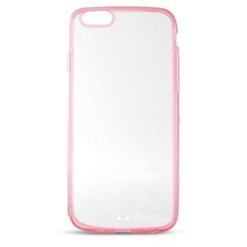 iPhone 6 / 6S Ksix Ultrathin Fusion Kotelo Läpinäkyvä / Pinkki