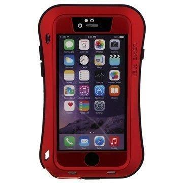 iPhone 6 / 6S Love Mei Powerful Hybrid Suojakuori Punainen