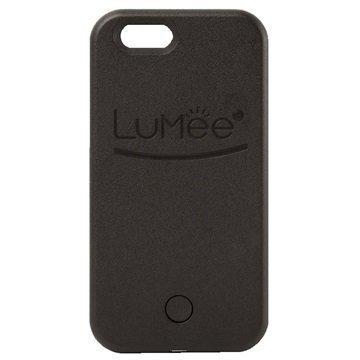 iPhone 6 / 6S LuMee LED-Valaistu Selfie-Kotelo Musta