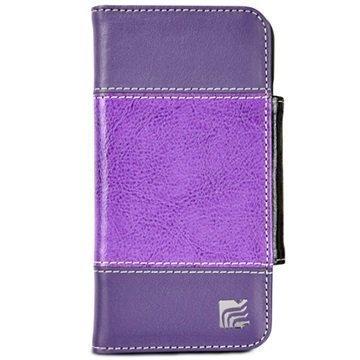iPhone 6 / 6S Maroo Mystic Haze Lompakkomallinen Nahkakotelo Violetti