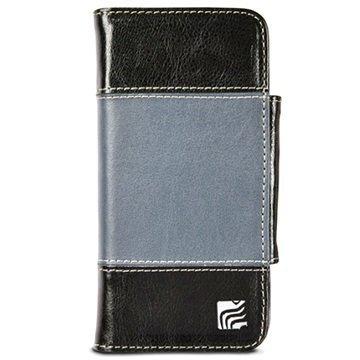 iPhone 6 / 6S Maroo The Slate Lompakkomallinen Nahkakotelo Musta / Harmaa