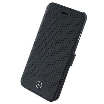 iPhone 6 / 6S Mercedes-Benz Pure Line Lompakkokotelo Musta