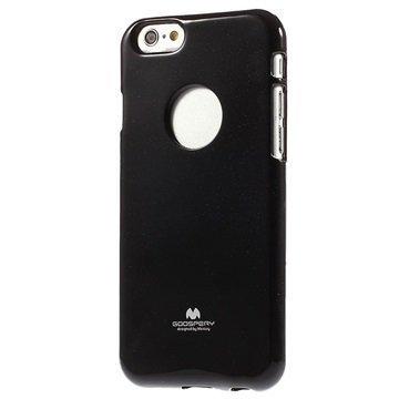 iPhone 6 / 6S Mercury Goospery TPU Kotelo Musta