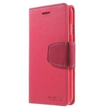 iPhone 6 / 6S Mercury Newsets Lompakkokotelo Kuuma Pinkki