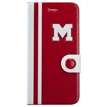 iPhone 6 / 6S Momax M Jacket Flip Nahkakotelo Punainen / Valkoinen