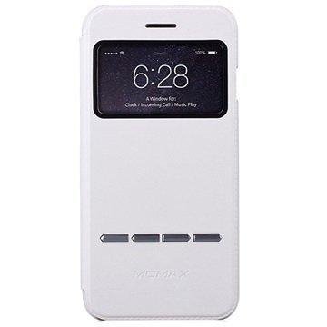 iPhone 6 / 6S Momax View Slide Läppäkotelo Valkoinen