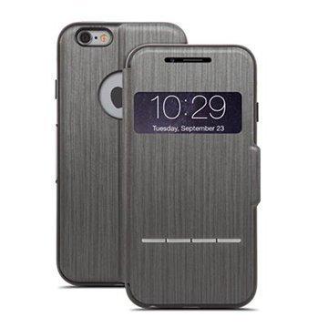 iPhone 6 / 6S Moshi SenseCover Läppäkotelo Musta