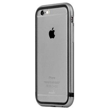 iPhone 6 / 6S Moshi iGlaze Luxe Metal Suojareunuskotelo Harmaa
