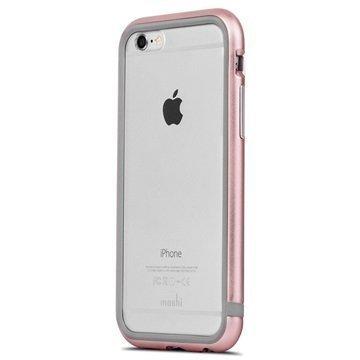 iPhone 6 / 6S Moshi iGlaze Luxe Metal Suojareunuskotelo Vaaleanpunainen