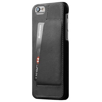 iPhone 6 / 6S Mujjo 80 Degree Nahkakotelo Musta