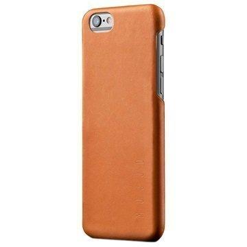 iPhone 6 / 6S Mujjo Kova Nahkakotelo Keltaruskea