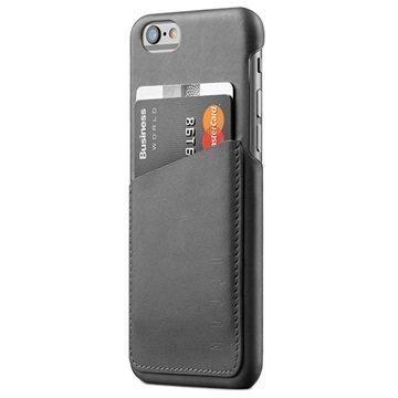 iPhone 6 / 6S Mujjo Wallet Nahkainen Kova Kotelo Harmaa
