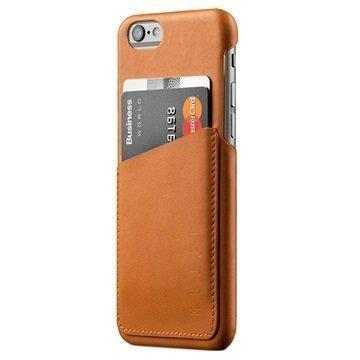 iPhone 6 / 6S Mujjo Wallet Nahkainen Kova Kotelo Keltaruskea