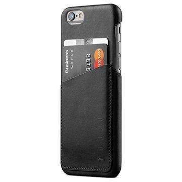 iPhone 6 / 6S Mujjo Wallet Nahkainen Kova Kotelo Musta