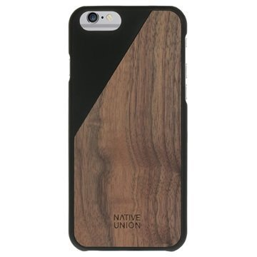 iPhone 6 / 6S Native Union Clic Wooden Puinen Suojakuori Musta