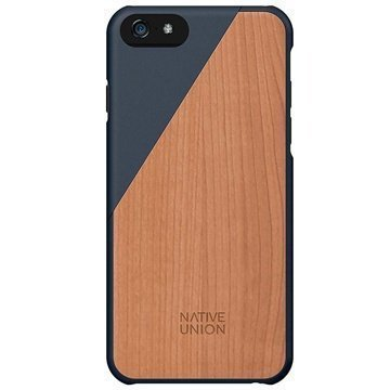 iPhone 6 / 6S Native Union Clic Wooden Puinen Suojakuori Navy
