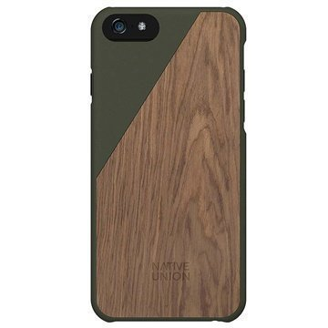 iPhone 6 / 6S Native Union Clic Wooden Puinen Suojakuori Olive