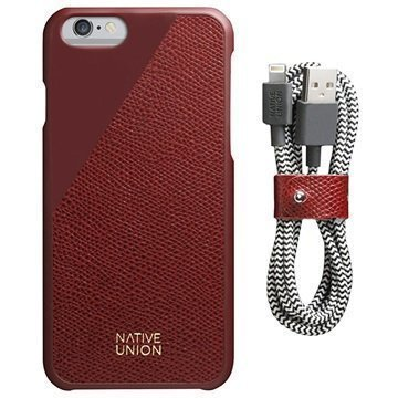 iPhone 6 / 6S Native Union Nahka Edition Setti Bordeaux