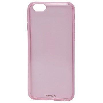 iPhone 6 / 6S Nevox StyleShell Flex TPU Suojakuori Läpinäkyvä Pinkki