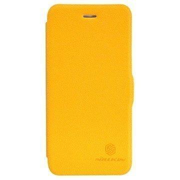 iPhone 6 / 6S Nillkin Fresh Series Läpällinen Nahkakotelo Keltainen