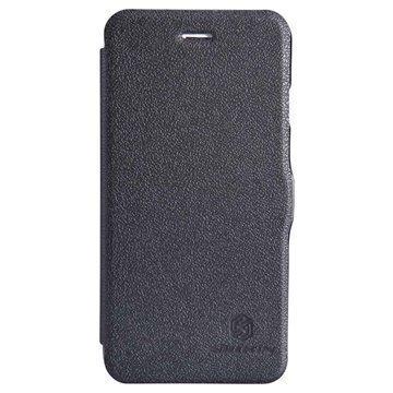iPhone 6 / 6S Nillkin Fresh Series Läpällinen Nahkakotelo Musta