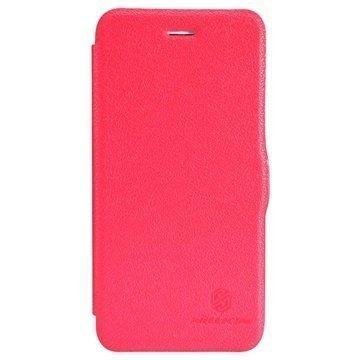 iPhone 6 / 6S Nillkin Fresh Series Läpällinen Nahkakotelo Punainen
