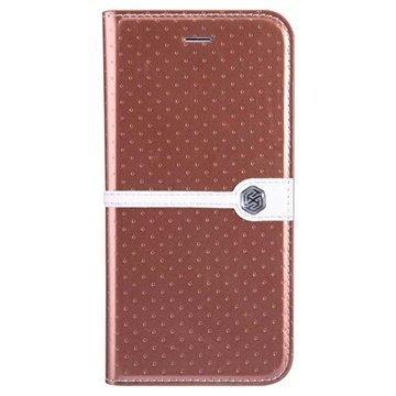 iPhone 6 / 6S Nillkin Ice Series Läpällinen Nahkakotelo Ruskea