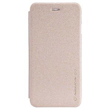 iPhone 6 / 6S Nillkin Kimallesarjan Nahkainen läppäkotelo Kultainen