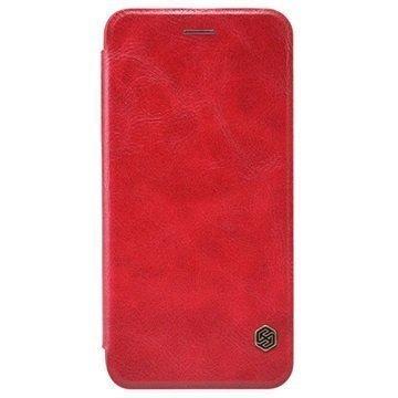 iPhone 6 / 6S Nillkin Qin Series Läppäkotelo Punainen
