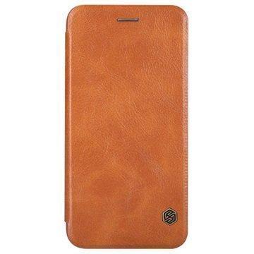 iPhone 6 / 6S Nillkin Qin Series Läppäkotelo Ruskea