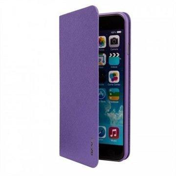 iPhone 6 / 6S Ozaki O!Coat 0.3 Folio Lompakkomallinen Nahkakotelo Violetti