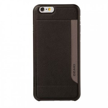 iPhone 6 / 6S Ozaki O!Coat 0.3 Pocket Kotelo Musta