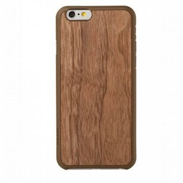 iPhone 6 / 6S Ozaki Wood Ultraohut Snap-on Kuori Pähkinäpuu
