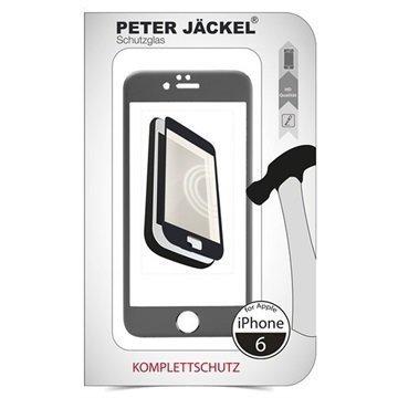 iPhone 6 / 6S Peter Jäckel Koko Näytön HD Lasi Näytönsuoja Harmaa