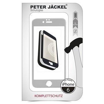 iPhone 6 / 6S Peter Jäckel Koko Näytön HD Lasi Näytönsuoja Hopea
