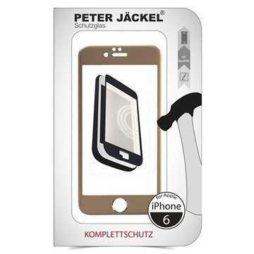 iPhone 6 / 6S Peter Jäckel Koko Näytön HD Lasi Näytönsuoja Kulta