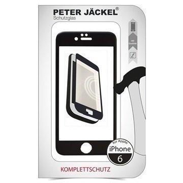 iPhone 6 / 6S Peter Jäckel Koko Näytön HD Lasi Näytönsuoja Musta