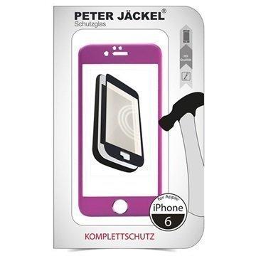 iPhone 6 / 6S Peter Jäckel Koko Näytön HD Lasi Näytönsuoja Pinkki