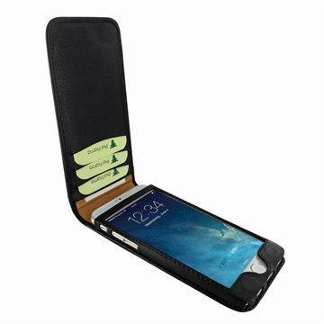 iPhone 6 / 6S Piel Frama Classic Magnetic Nahkakotelo Musta