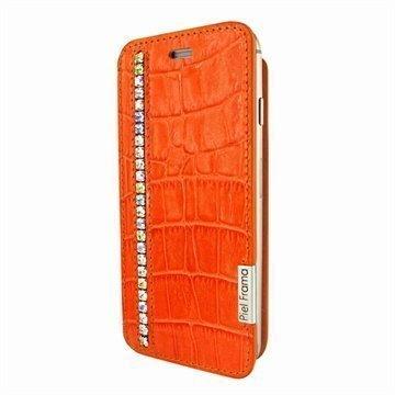 iPhone 6 / 6S Piel Frama FramaSlim Läpällinen Nahkakotelo Krokotiili Swarovski Oranssi
