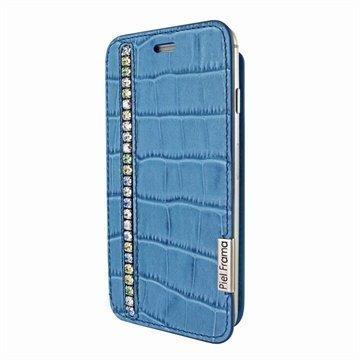 iPhone 6 / 6S Piel Frama FramaSlim Läpällinen Nahkakotelo Krokotiili Swarovski Sininen