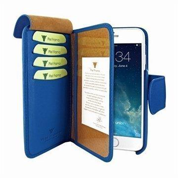 iPhone 6 / 6S Piel Frama Lompakko Nahkakotelo Sininen
