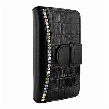 iPhone 6 / 6S Piel Frama Swaro Nahkainen Lompakkokotelo Musta