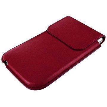 iPhone 6 / 6S Piel Frama Unipur Nahkakotelo Burgundinpunainen