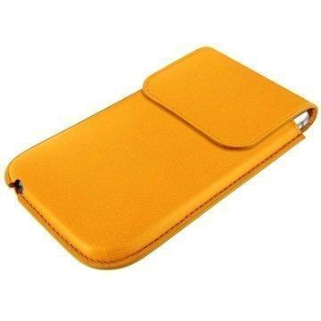 iPhone 6 / 6S Piel Frama Unipur Nahkakotelo Keltainen