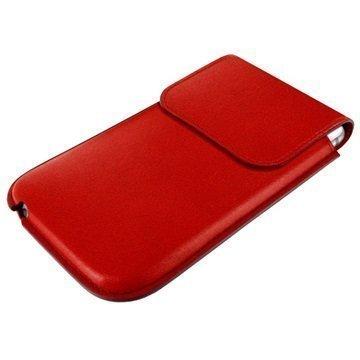iPhone 6 / 6S Piel Frama Unipur Nahkakotelo Punainen