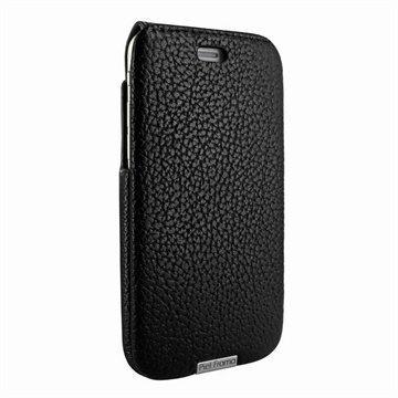 iPhone 6 / 6S Piel Frama iMagnum Nahkakotelo Iforte Musta