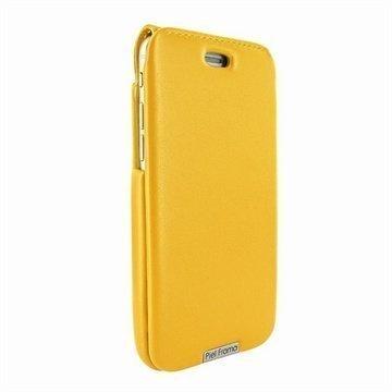 iPhone 6 / 6S Piel Frama iMagnum Nahkakotelo Keltainen
